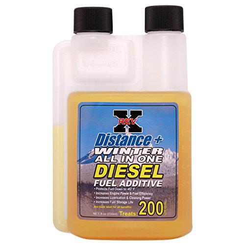 REV X Distance+ Winter Diesel Fuel Additive (-45°) – 8 fl. oz. – Treats 200 Gallons
