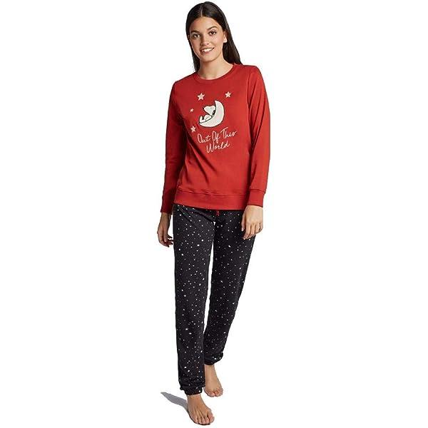 GISELA Pijama de Mujer de Snoopy 2/1719 - Rojo, XXL: Amazon ...