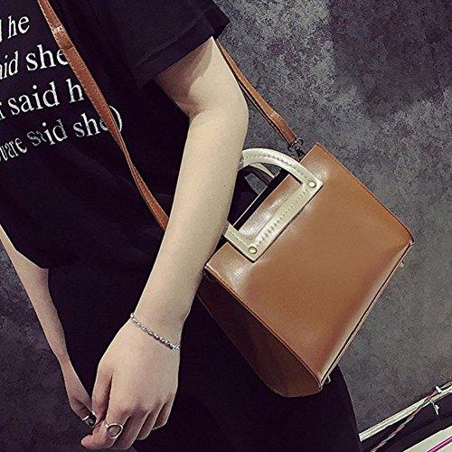 Women PU Shoulder Brown Brown Demiawaking Bags Crossbody 2pcs Set Handbag Tote Composite 5PxxIZqwY