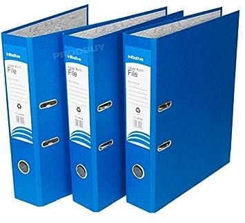 3 archivadores de palanca de polipropileno, tamaño A4, grandes, para oficina, papel
