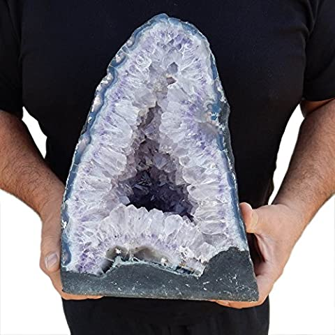 Large Amethyst Cathedral Natural - Quartz Crystal Cluster from Brazil - 25-26lbs (AC-03) (Jumbo Crystal Rings)