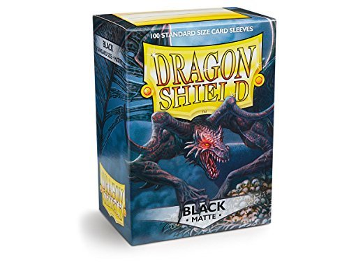 Dragon Shield Matte Black Standard Size Card Sleeves Display Box [10 packs]