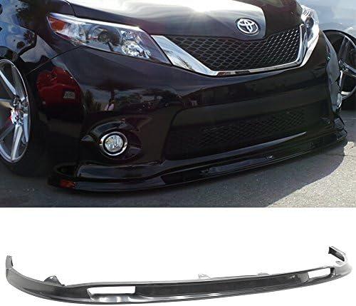 Front Bumper Lip Compatible With 2018-2020 Toyota Sienna SE LE XLE MP Style Unpainted Black Front Lip Spoiler Underbody Splitter Polyurethane IKON MOTORSPORTS 2019