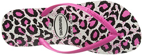 Slim rose Rosa Animals Donna white Havaianas Infradito EnfwYaq