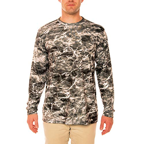 (Vapor Apparel Mossy Oak Elements - Manta Men's UPF 50+ Long Sleeve T-Shirt XX-Large)