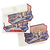 Hallmark Boxed Holiday Cards: Holiday Evening Sleigh Ride by Thomas Kinkade