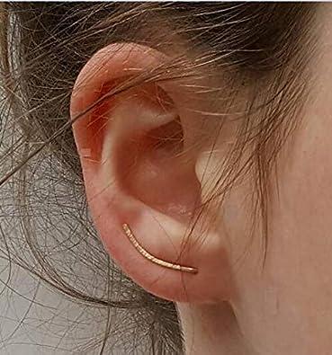 Rivertree oro escalador de oreja de hoja de olivo//simple mínima oreja Crawler Arito por