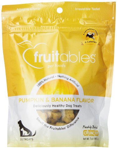 Fruitables Pumpkin & Banana Crunchy Dog Treat 7 ounce Pouch
