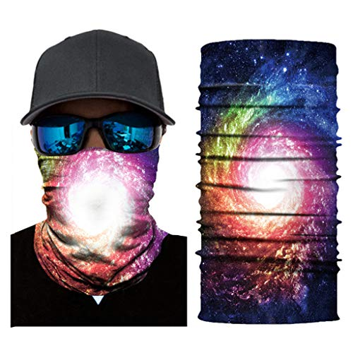Haluoo Face Shield for Men and Women, Galaxy Neck Gaiter Headwear Face Sun Mask Bandana Balaclava Headband Magic Scarf Headwrap for Cycling, Fishing, Motorcycling, Running, UV Protection (C)