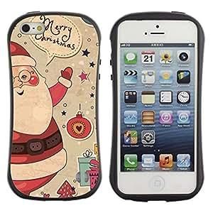 "Pulsar iFace Series Tpu silicona Carcasa Funda Case para Apple iPhone 5 / iPhone 5S , Regalos Merry Christmas Winter Ho"""