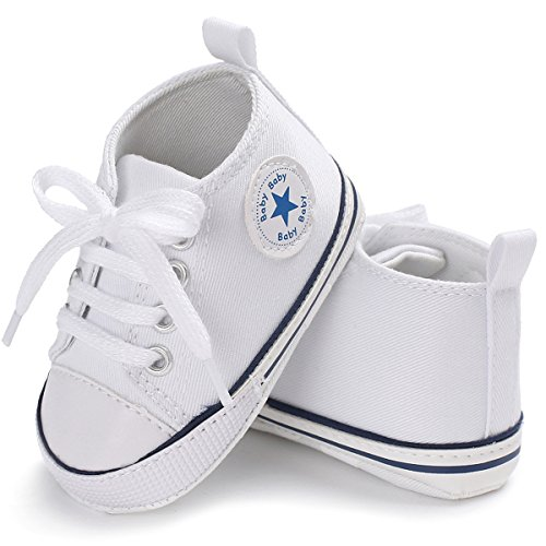 Baby Shoes Sneakers - Tutoo Unisex Baby Boys Girls Soft Anti-Slip Sole Sneakers Newborn Infant First Walkers Canvas Denim Shoes