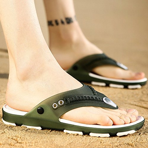 XIAOLIN Zapatillas de los hombres antideslizantes versión coreana de los hombres de la playa de verano Zapatos de los hombres usan zapatillas de marea personalizadas (tamaño opcional) ( Color : 02 , T 02