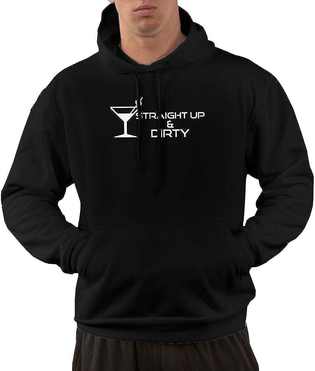 Slotley Mens Straight Up /& Dirty Martini Love Hoodie Sweatshirt