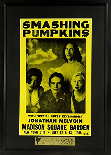 Smashing Pumpkins @ Madison Square Garden Concert Poster (SG Signature Engraved Plate Series Feat. Billy Corgan) Framed