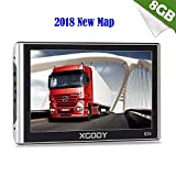 Xgody Portable Truckers GPS 826 7 Inch NAV System Navigator with Sun Shade Support Lifetime US Canada Maps Update Spoken Turn-By-Turn Directions and Speed Limit Displays