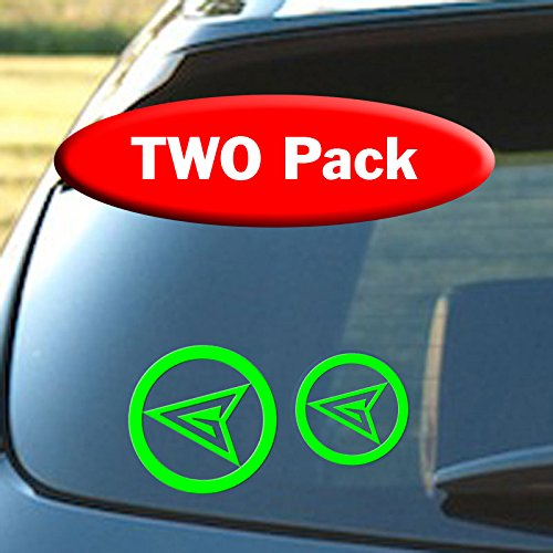 [Green Arrow Logo - Two Pack - Bright Green - 3.75