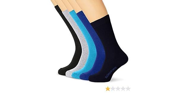 Bjorn Borg 5-Pack Solid /& Stripe Ankle Mens Socks Blue//Black//Grey