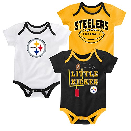 "NFL Pittsburgh Steelers Boys ""3 Points"" 3 Pack Bodysuit S..."