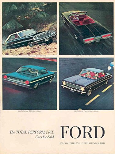 1964 Ford Sales Brochure Falcon Fairlane Thunderbird (Thunderbird Brochure)