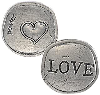 product image for Crosby & Taylor Big Heart Love Lead-Free American Pewter Sentiment Coin