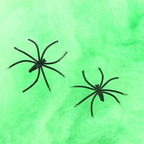 Halloween Spider Web, SOUFUN Stretchy Spider Web Cobweb Prop for Halloween Home Bar Party Festival Decoration (A Salt And Battery Halloween Costume)
