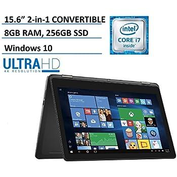 "Dell Inspiron 15 7000 7568 2-in-1 Laptop, 15.6"" 4K (3840x2160) TOUCHSCREEN, Intel 6th Gen i7-6500U, 256GB SSD, 8GB DDR3, Backlit Keyboard, Windows 10 (Certified Refurbished)"
