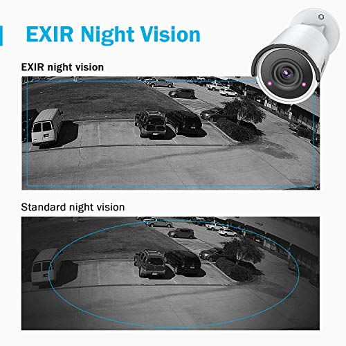 ANNKE 8CH UltraHD 4K Home Security Camera System w/ 4 x 8MP PoE IP Bullet  Cameras + 2TB HDD, 100ft Night Vision, Weatherproof H 265 NVR Surveillance