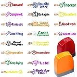 Best Teacher Stamps - SSEELL Set of 4 Self Inking Teacher Stamp Review