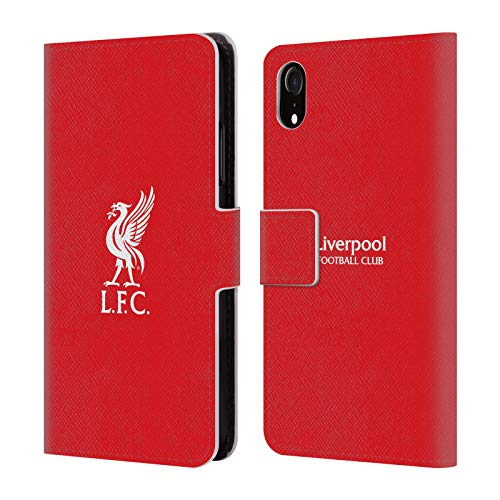 (Official Liverpool Football Club White Logo in Red Liver Bird PU Leather Book Wallet Case Cover for iPhone XR)