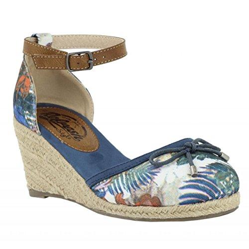 Chaussures compensées pour Femme REFRESH 61864 TEXF AZUL