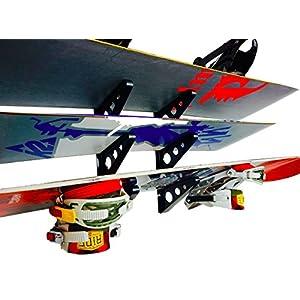 StoreYourBoard Snowboard Multi Wall Rack | Home Storage & Organization Horizontal Mount