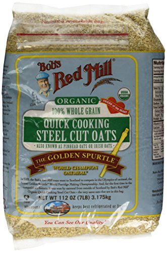 - Bob's Red Mill Quick Cooking 100% Whole Grain Oats, 112 Ounce