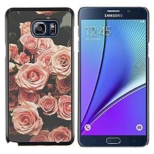 TECHCASE---Cubierta de la caja de protección para la piel dura ** Samsung Galaxy Note 5 ** --subió viñeta resorte retro vendimia