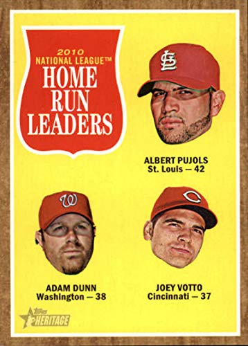 2011 Topps Heritage #54 Albert Pujols/Adam Dunn/Joey Votto MLB Baseball Card NM-MT