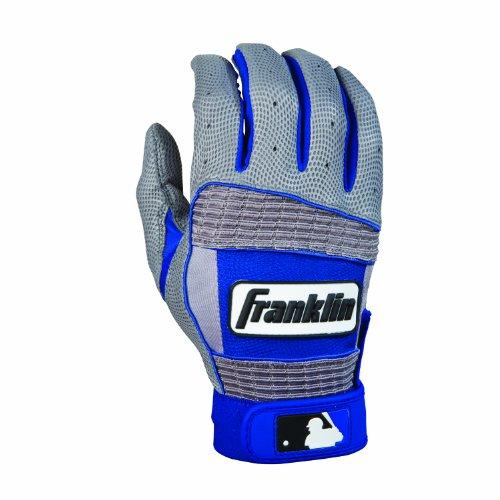 (Franklin Sports MLB Youth Neo Classic II Series Batting Glove (Gray/Blue,)