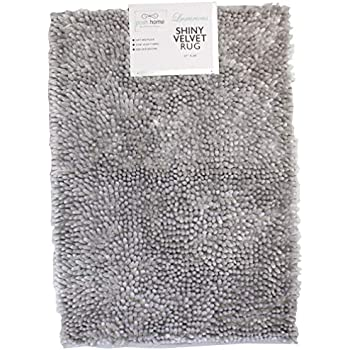 Amazon Com Posh Home Luxurious Shiny Velvet Bath Washable