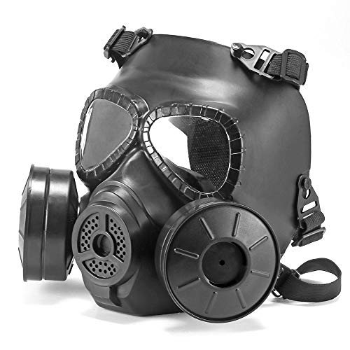 OurLeeme Double Filter Gas Dust Mask, Chemical Filter Respirator Protection Mask for Tactical Outdoor Activity Outdoor Leisure Home Entertainment Cosplay Costume Party Film or Television Shooting -