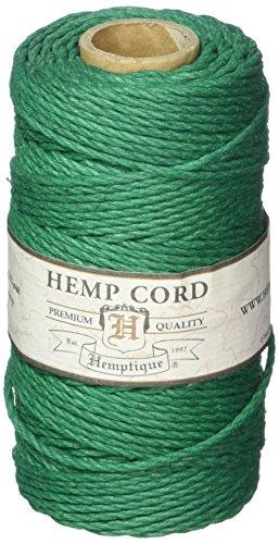Hemptique Hemp Cord Spool #48 (Green Hemp Cord)