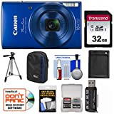 Canon PowerShot Elph 190 is Wi-Fi Digital Camera (Blue) with 32GB Card + Case + Battery + Tripod + Kit Review