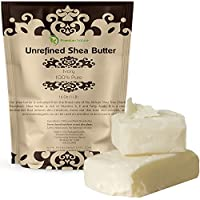 Organic Unrefined African Shea Butter - 16 oz Raw for Body Butters Lotions Lip Balms Strech Mark Removal Eczema Treatment - Best Pure Moisturizer Skin & Hair Care - for DIY Premium Nature