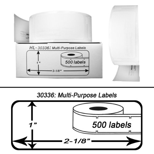 (12 Rolls; 500 Labels per Roll; DYMO-Compatible 30336 Multipurpose Labels (1