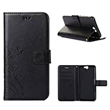 """HTC One A9 Case, LANDEE Advanced Pressed Flowers Series The Unique Design PU Leather Wallet Stand Flip Case for HTC One A9 (5.0"""") (HTCA9-P-0405)"""