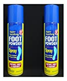 2 Cans Foot Powder Spray Relieves Odor Wetness Moisture Absorbent Cools Comforts feet