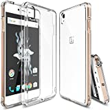 OnePlus X Case, Ringke [Fusion] Crystal Clear PC Back TPU Bumper w/ Screen Protector [Drop Protection/Shock Absorption Technology][Attached Dust Cap] For OnePlus X - Clear