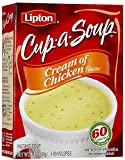 Lipton, Cup-A-Soup, Cream Of Chicken Flavor, 4 Count, 2.4oz Box (Pack of 6)