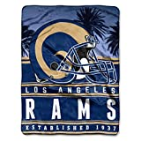 """Officially Licensed NFL St. Louis Rams Stacked Silk Touch Throw Blanket, 60"""" x"""