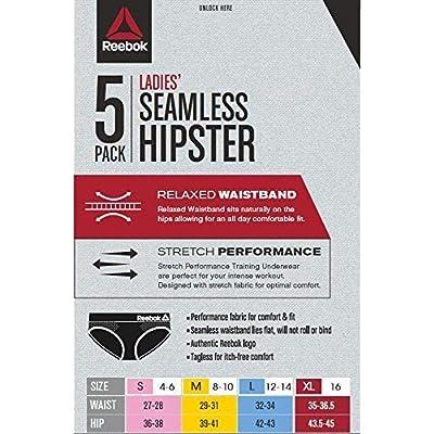 Reebok Womens Seamless Hipster Panties 5-Pack: Clothing
