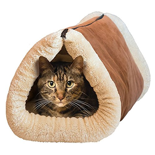 [Relax Enjoy Warm Atmosphere Portable Velvety Thermo-Reflective 2-in-1 Material Cat Tunnel Fleece Tube Cushion Use For Public Park Hom Indoor Out] (Diy Popcorn Costume)