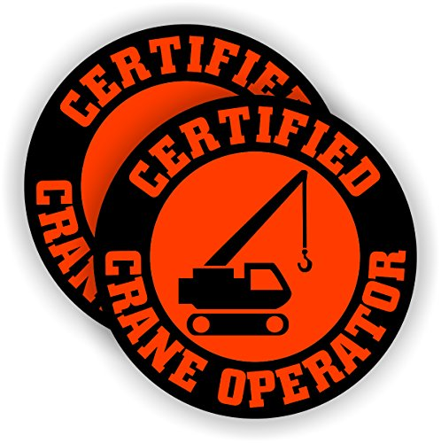Certified Crane Operator Hard Hat Sticker / Decal Helmet Label High Reach Lift Bucket Truck