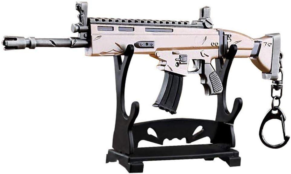 KOBWA Arma Scar Guns Pistola 3D Modelo Llavero de Metal, Tamaño ...